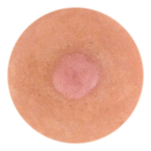 Model Joy 4mm nipple height.<br>Full nipple width about 14mm.<br>Nearly smooth areola features.